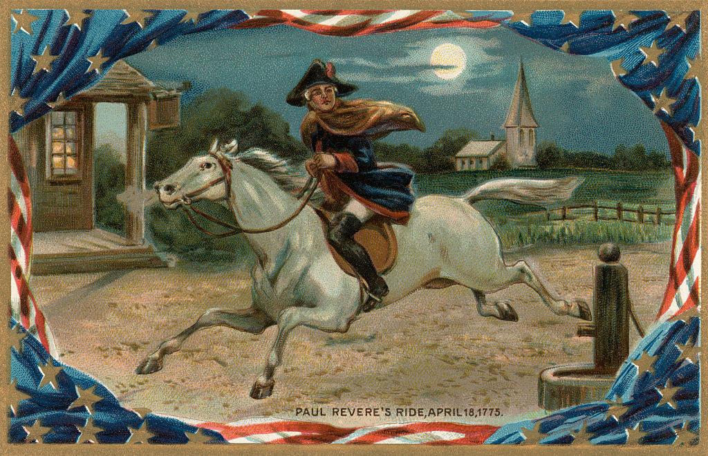 Paul Revere's ride illustrated