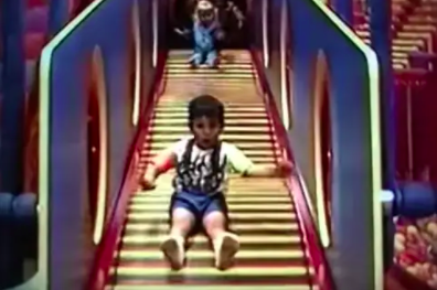 the slides with individual pipes that move as you go down