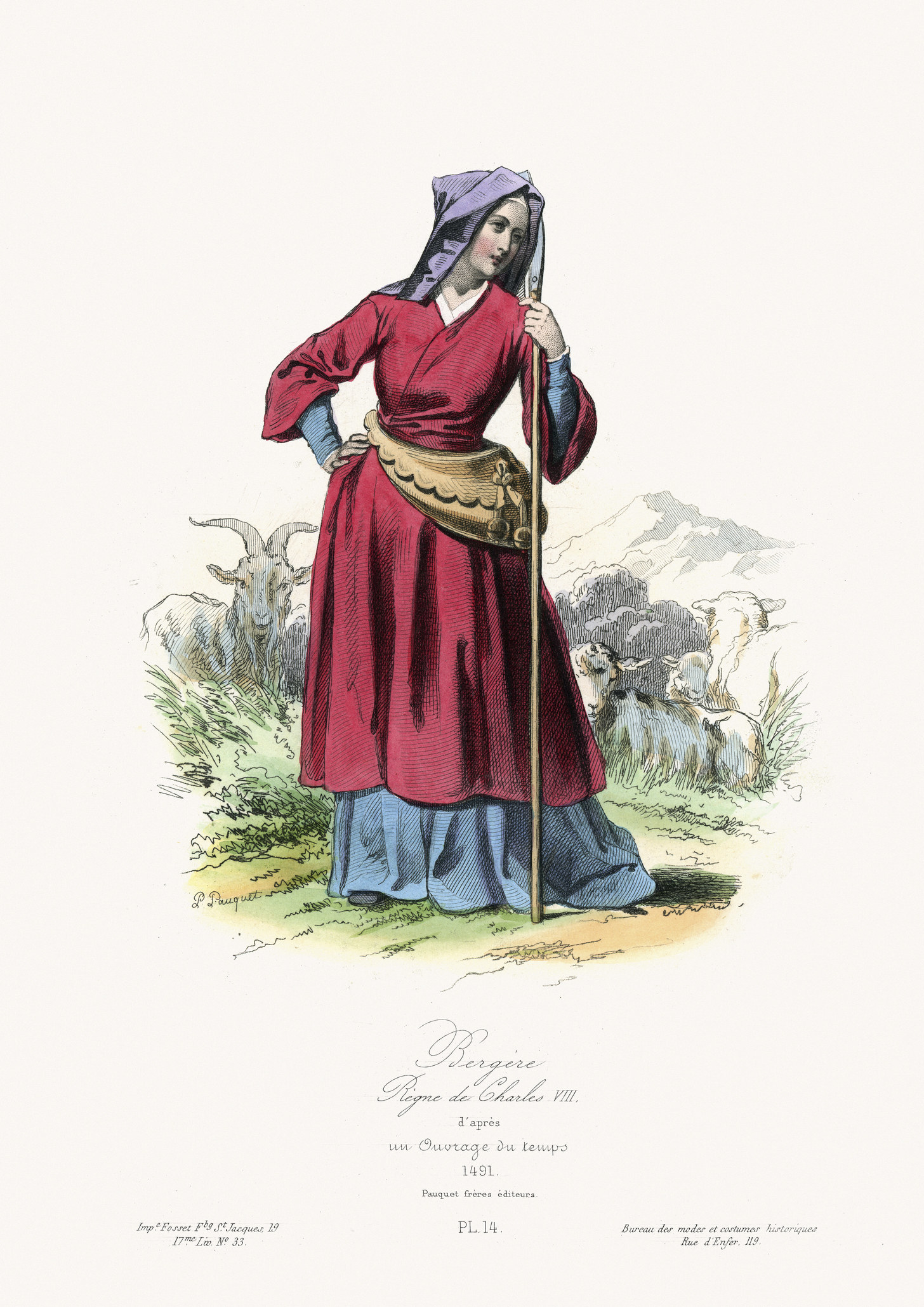 herder in colorful dress