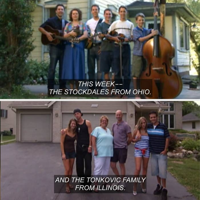 Images of the Stockdale and Tonkovic families