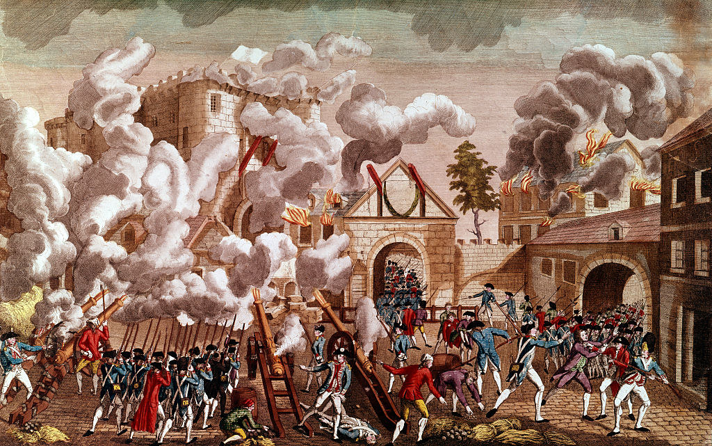illustration of the storming of the bastille
