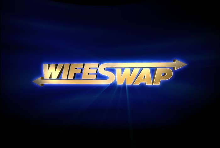 The logo and title card for Wife Swap