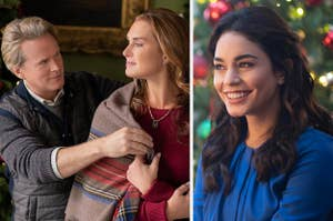 Cary Elwes and Brooke Shields in Castle for Christmas and Vanessa Hudgens in The Princess Switch 3