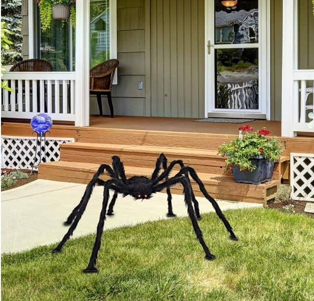 Foto de araña gigante para decoración para interiores y exteriores de halloween