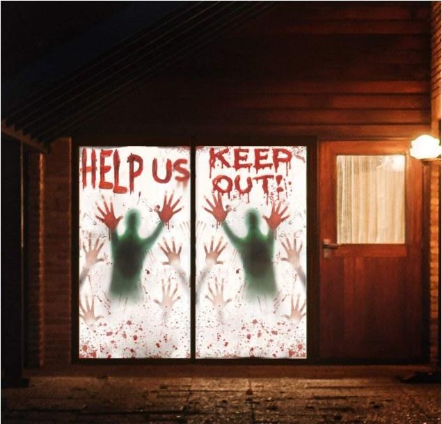 Posters para ventana con temática de Halloween