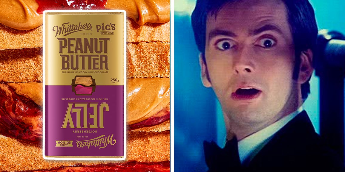 Whittaker's Have A Peanut Butter And Jelly Chocolate Block And I'm Straight Up Salivating thumbnail
