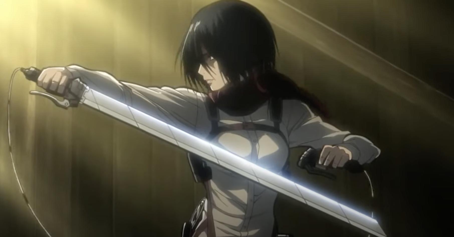 An anime character wielding a sword