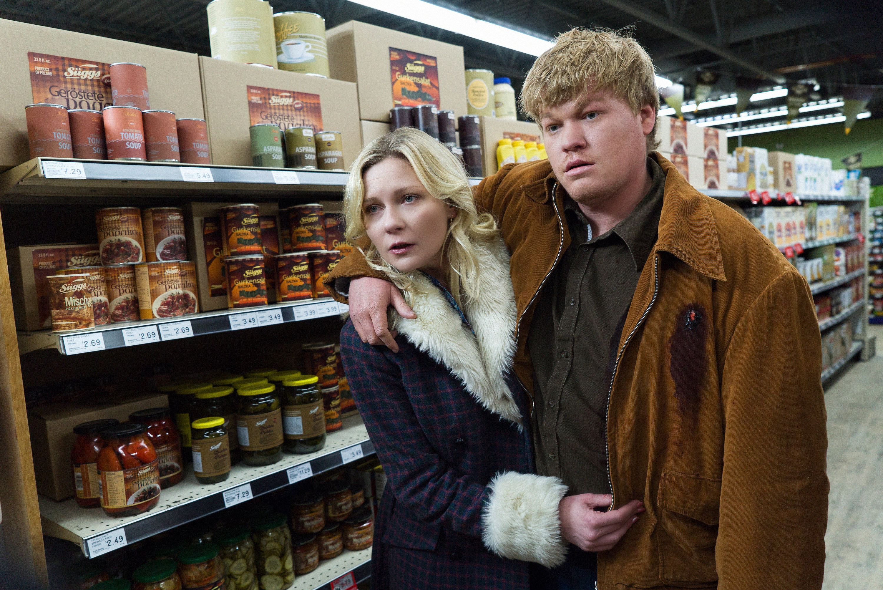 The couple at the grocery store