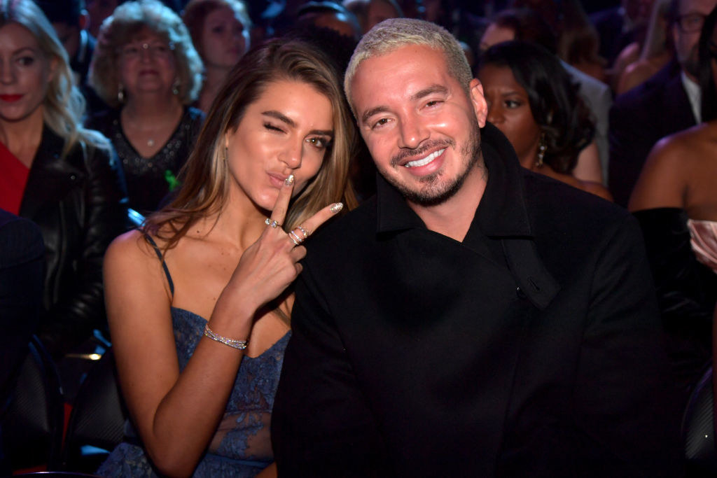 Valentina Ferrer (L) and J Balvin during the 61st Annual GRAMMY Awards at Staples Center on February 10, 2019 in Los Angeles, California.