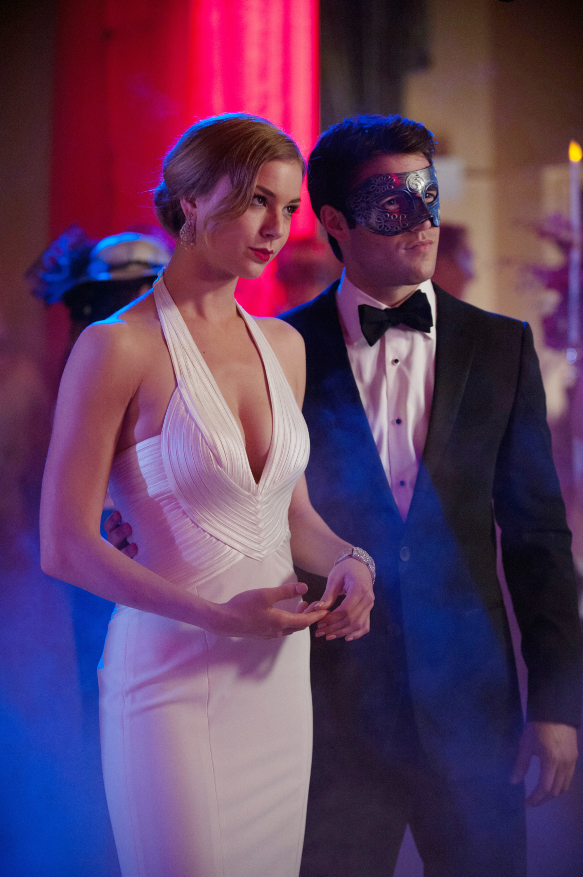 They're at a masquerade ball