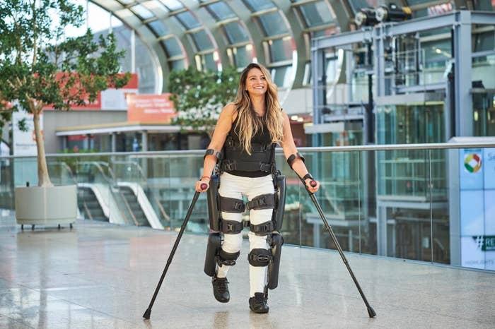 Marcela using the Rewalk