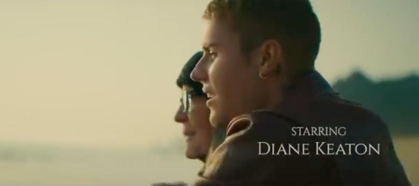 Diane Keaton and Justin Bieber