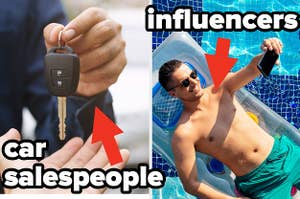 car salesman and influencer