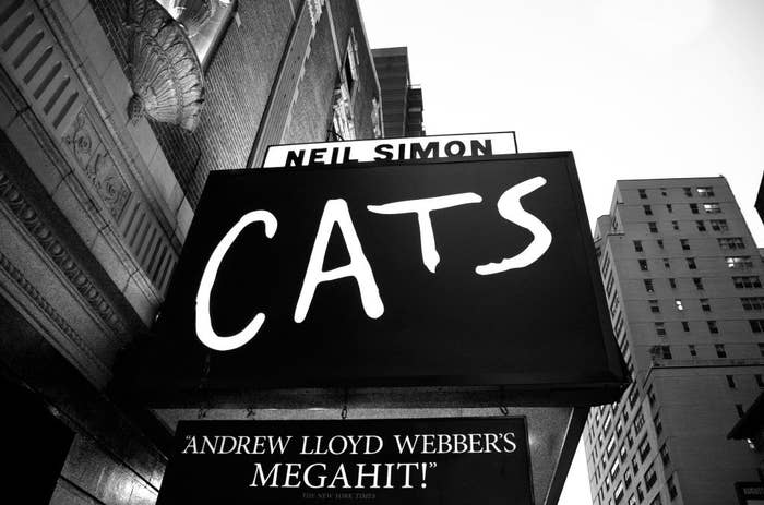The Neil Simon Theater, where the Andrew Lloyd Webber Broadway musical 'Cats' is playing