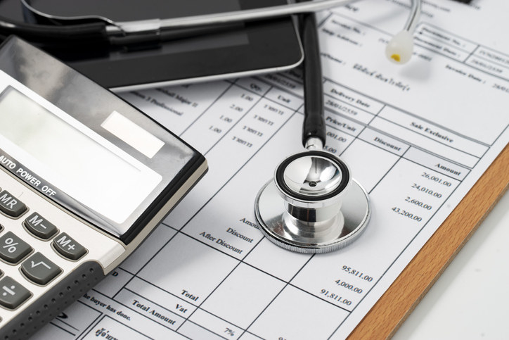 A medical bill totaling over $91,000