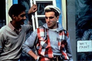 image of two men talking outside