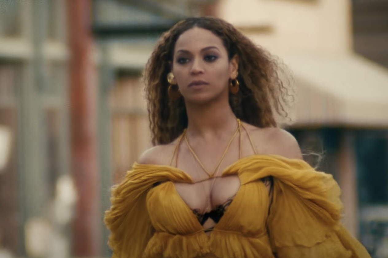 Beyoncé in a shot from the music video fo Hold Up