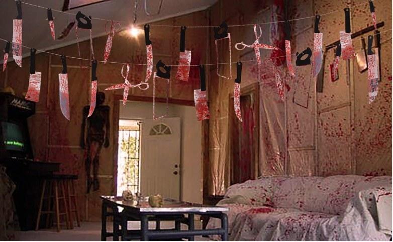 Foto de guirnalda macabra para decorar halloween