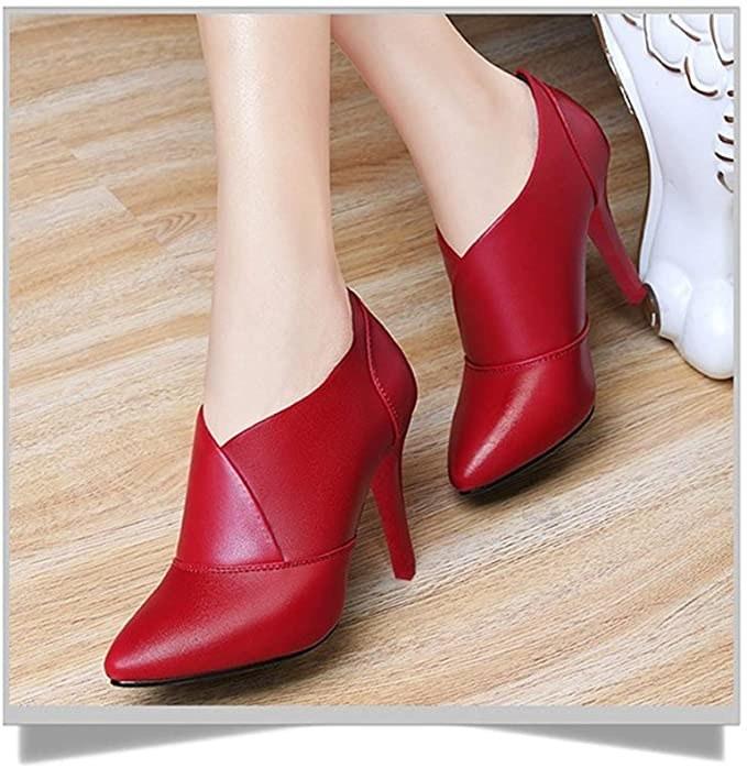 Botines rojos de tacón