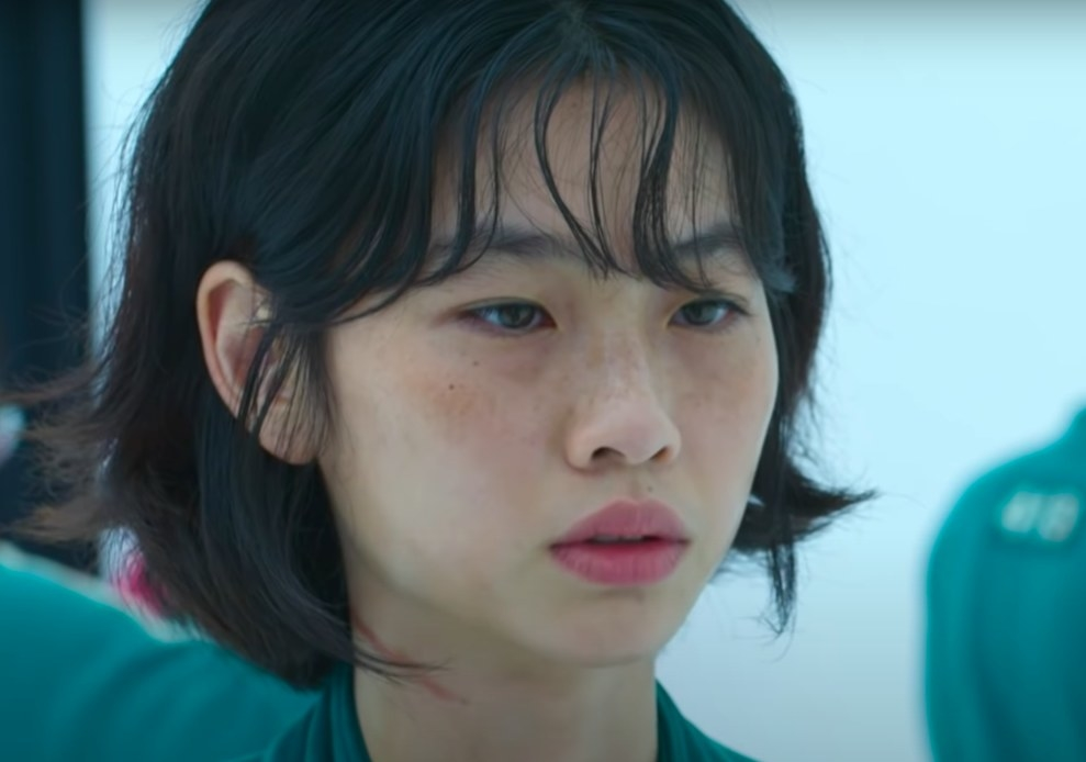 Close-up of Sae-byeok's face