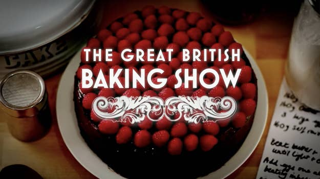 the title card for the great british baking show