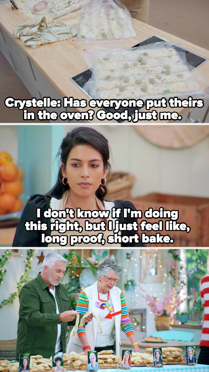 Crystelle continues to prove her breadsticks instead of baking them