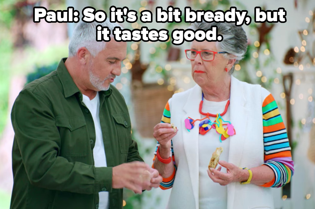 Paul says the breadsticks are a bit bready, but taste good