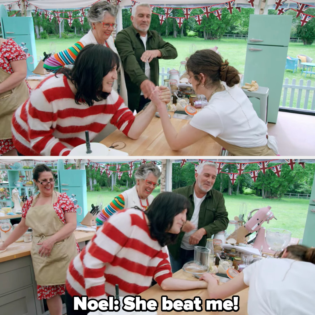 Noel says, she beat me!
