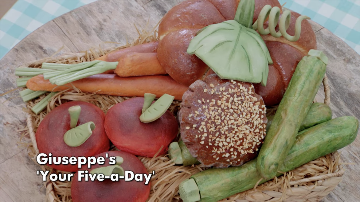 Giuseppe's five vegetables and fruits a day