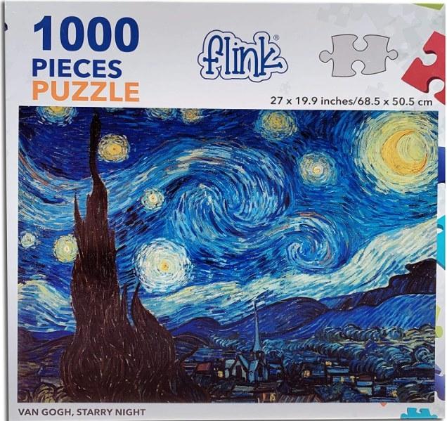 Foto de rompecabezas de mil piezas de la noche estrellada