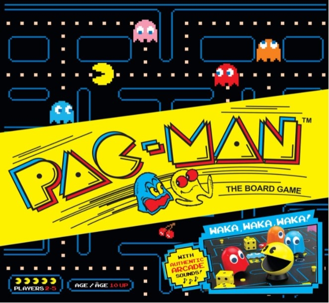 Portada del juego de mesa de Pac-man