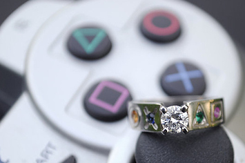 30 geeky engagement rings wedding bands and ring boxes - Anime Wedding Rings