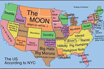 How New Yorkers See The United States In One Map