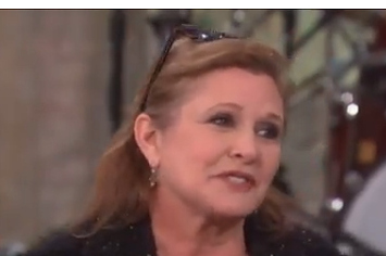 "Carrie Fisher Discusses Playing ""Old"" Princess Leia