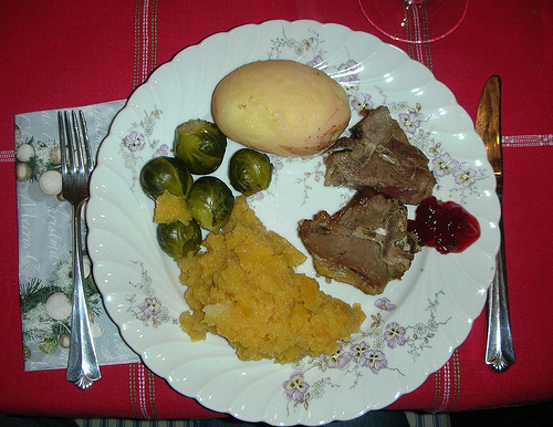 Salted Lambs Ribs Pinnekjøtt with mashed rutabaga