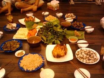 Christmas Dinner In Vietnam