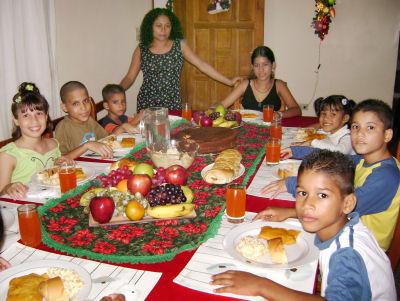 Christmas Dinner In Venezuela