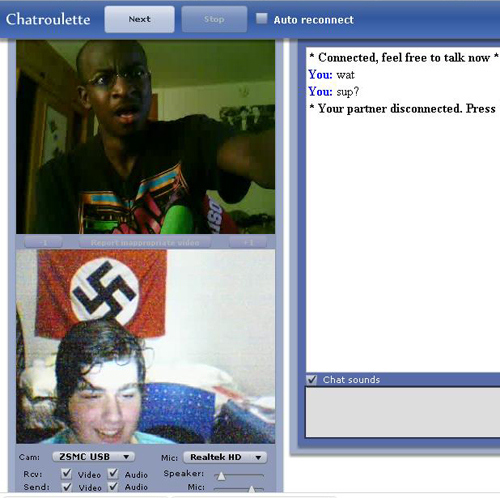 So many Nazis on Chat Roulette