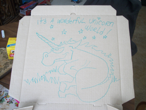 """Draw A Unicorn On The Box"""