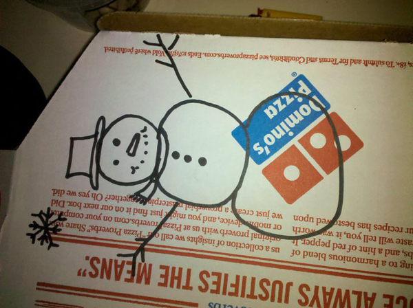 """Draw A Snowman On The Box"""