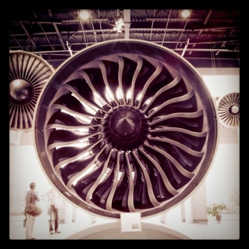 A GE90 engine at the Learning Center in Cincinnati, OH.