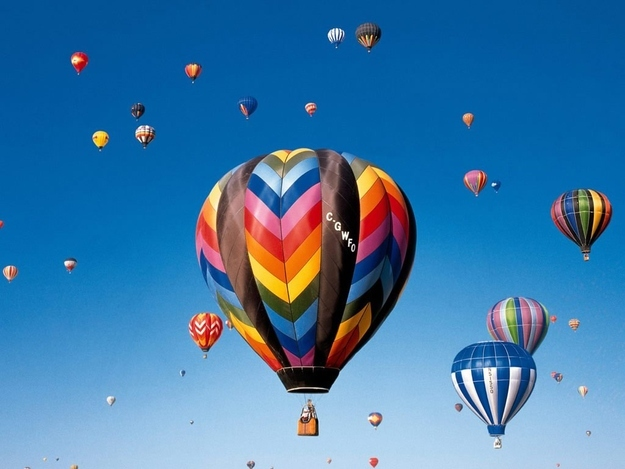 Hot Air Balloon Across The Country