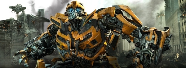"In this publicity image released by Paramount Pictures, Bumblebee is shown in a scene from ""Trans..."