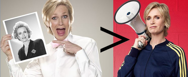 6) Be mad that Glee stole Jane Lynch