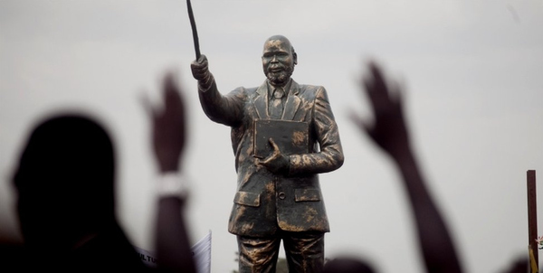 """After the unveiling of a statue of Dr. John Garang, the """"father of south Sudan"""""""