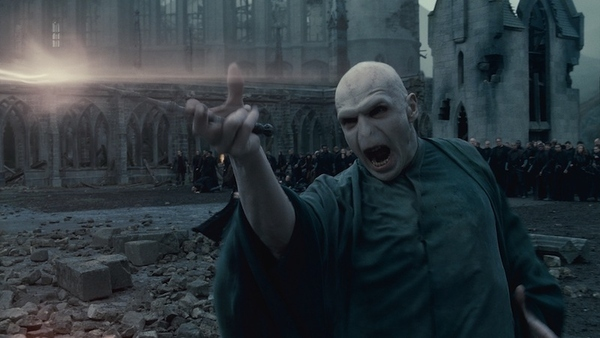 """Ralph Fiennes portrays Lord Voldemort in a scene from """"Harry Potter and the Deathly Hallows: Part..."""