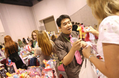 At the My Little Pony collectors convention