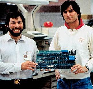 Steve Jobs and Steve Woz