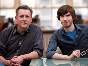 Tumblr's David Karp and John Maloney