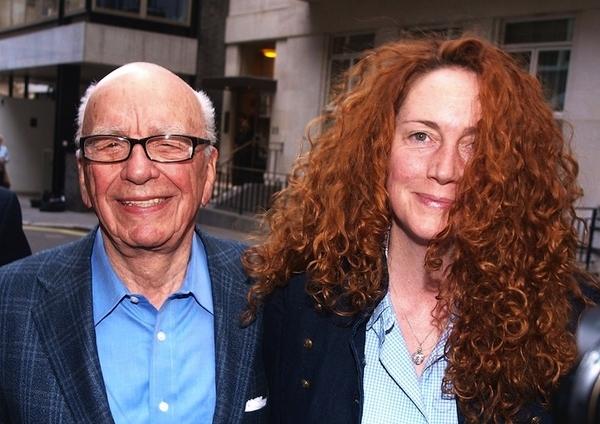 Chairman of News Corporation Rupert Murdoch, left, and Chief executive of News International Rebe...